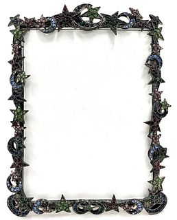 "Jay Strongwater ""Moon and Stars"" Picture Frame"