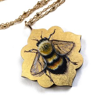 Quatrefoil Bumblebee Pendant
