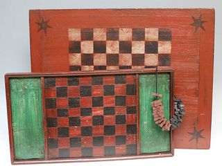 2 Contemporary Painted Gameboards