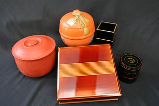 Group of Japanese Lacquer and Woodenware