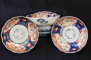 Five Japanese Imari Bowls
