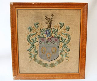 Needlework Coat of Arms