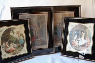 Four French and English Engravings