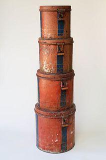 Four Antique Tins