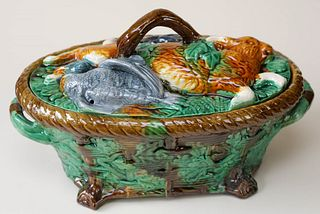 Majolica Game Pie Dish
