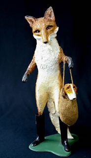 Composition Folk Art Fox