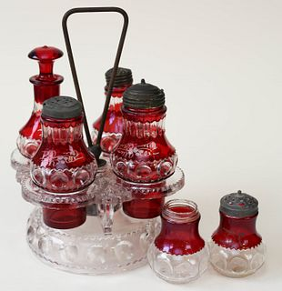Ruby Flash Cruet Set