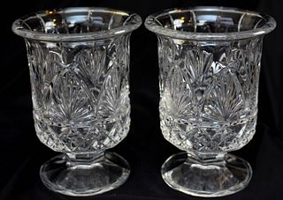 Pair of Shannon Crystal Vases