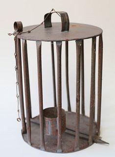 Tin Traveling Bird Cage