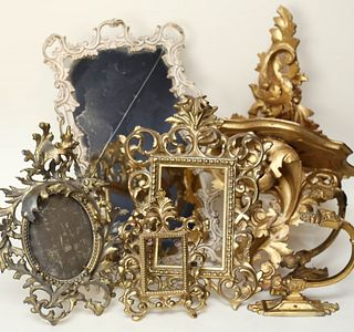 Gilt Frames, Mirrors and Shelves
