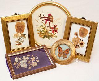 Five Framed Pressed Works