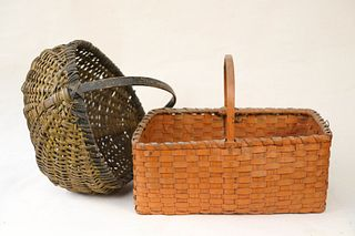 Two Antique Painted Baskets