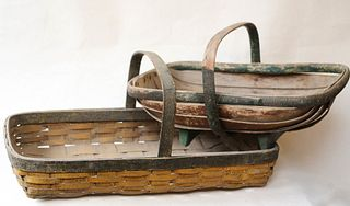 Two Antique Painted Carriers