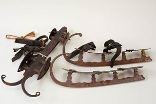 Two Pairs of Antique Ice Skates