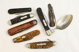 Seven Vintage Pocket Knives