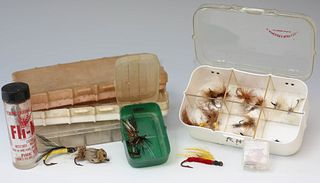 Vintage Fly Fishing Flies and Cases