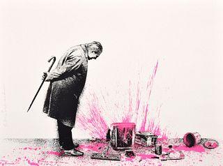 "Mr. Brainwash ""Glitch - Pink"" Screenprint, Signed Edition"