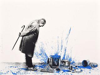 """Mr. Brainwash """"Glitch - Blue"""" Screenprint, Signed Edition"""