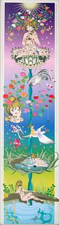 """Large Chiho Aoshima """"Ornamental Hairpin of the Rose"""" Print"""