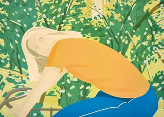 """Alex Katz """"Bicycle Rider"""" Lithograph, Signed Edition"""