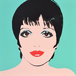 """Andy Warhol (after) """"Liza Minnelli"""" Screenprint"""