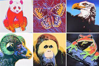 "6 Andy Warhol ""Endangered Species"" Screenprints"