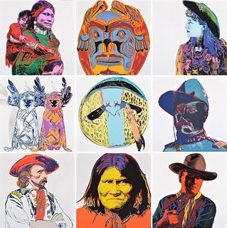 "10 Andy Warhol ""Cowboys & Indians"" Portfolio Screenprints"