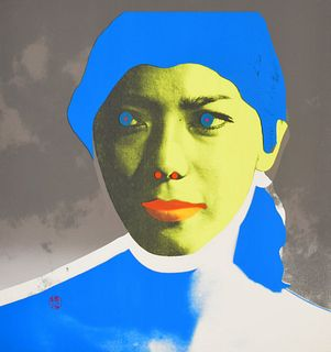 Tadanori Yokoo Screenprint Monotype with Collage