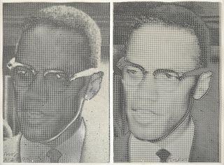 "Joe Tilson ""Malcolm X"" Screenprint Diptych, Signed"
