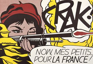 """Roy Lichtenstein """"Crak!"""" Poster"""