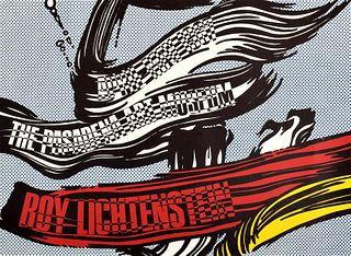 """Roy Lichtenstein """"Brushstrokes"""" Exhibition Poster"""