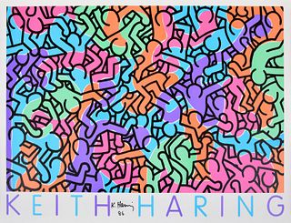 """Keith Haring """"George Mulder NY"""" Poster, Signed"""