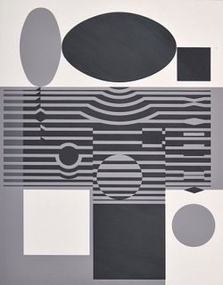 """Victor Vasarely """"Laika"""" Serigraph, Signed Edition"""