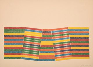 "Frank Stella ""Furg"" Lithograph/Screenprint, Signed Edition"