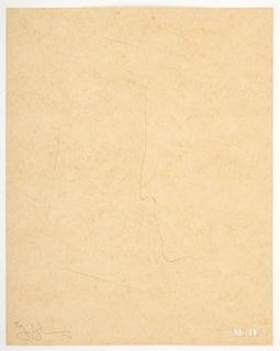 "Jasper Johns ""M. D. (Marcel Duchamp)"" Pochoir, Signed Edition"
