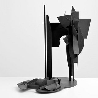 Louise Nevelson Steel Sculpture, Signed Edition