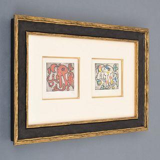 2 Joan Miro Engravings, Signed Editions