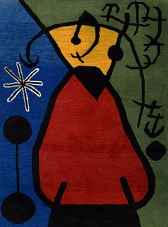 Large Joan Miro (after) Wool Tapestry