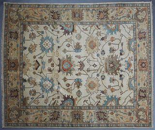 Turkish Angora Oushak Carpet, 8' 4 x 10'.