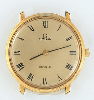 Vintage Omega De Ville Quartz Watch, 20th c., lacking a band, running, Dia.- 32mm.
