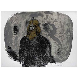 """JOSÉ LUIS CUEVAS, Rasputín, from the binder Crime by Cuevas, Signed and dated 68, Lithography 85 / 100, 21.8 x 28.3"""" (55.5 x 72 cm)"""