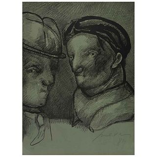 "JOSÉ LUIS CUEVAS, Autorretrato. Joan Prats 1982, Signed and dated 81, Lithography HC, 29.9 x 22"" (76 x 56 cm)"
