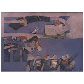 """FERNANDO DE SZYSZLO, SZY - 90, Signed, Etching, aquatint and embossing without print number, 28.7 x 24.4"""" (73 x 62 cm)"""