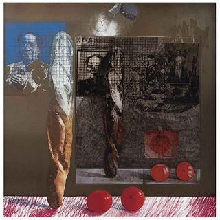 "HERMAN BRAUN - VEGA, from the series Agresiones, mutilaciones y falsificaciones, 1977, Signed, Mixed technique 17/50, 24.2 x 24.2"" (61.5 x 61.5 cm)"