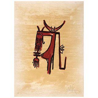 """WIFREDO LAM, El último viaje del buque fantasma - 1, 197, Signed, Lithography 40 / 99, 29.9 x 21.8"""" (76 x 55.5 cm)"""