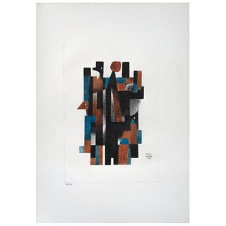 "CARLOS MÉRIDA, Untitled, Signed and dated 1980, Serigraphy 68 / 100, 15.3 x 10.6"" (39 x 27 cm)"