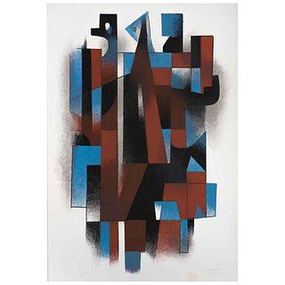 "CARLOS MÉRIDA, Untitled, Signed, Serigraph P. A., 22 x 14.9"" (56 x 38 cm)"