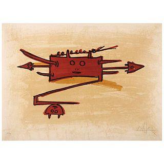 """WIFREDO LAM, El último viaje del buque fantasma - 6, 1976, Signed, Lithography 66 / 99, 29.7 x 21.8"""" (75.5 x 55.5 cm)"""