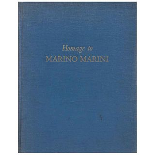"MARINO MARINI, Untitled, from the book Homage to Marino Marini, Unsigned, Lithography without print number, 12.2 x 18.7"" (31 x 47.5 cm)"