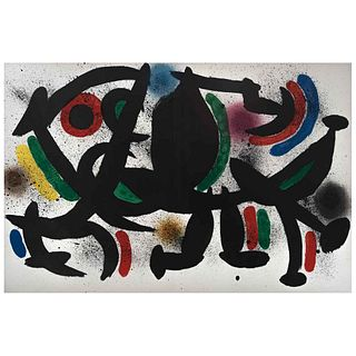 """JOAN MIRÓ, Litografía original, from the suite 12 Litografías originales, 1972, Unsigned, Lithography without print number, 12.2 x 18.8"""" (31 x 48 cm)"""